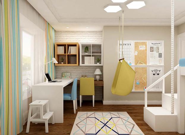 Дизайн детской для 2 детей