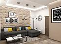 Дизайн двухкомнатной квартиры 75 м2
