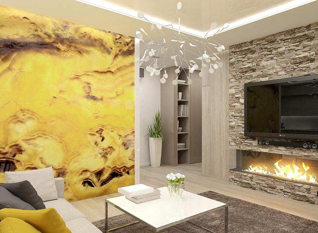 Отделка натуральным камнем в квартире