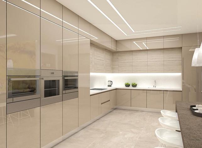 Кухня с яркими акцентами фото