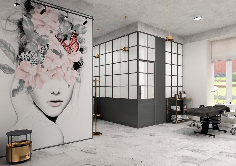 Стильный интерьер салона красоты