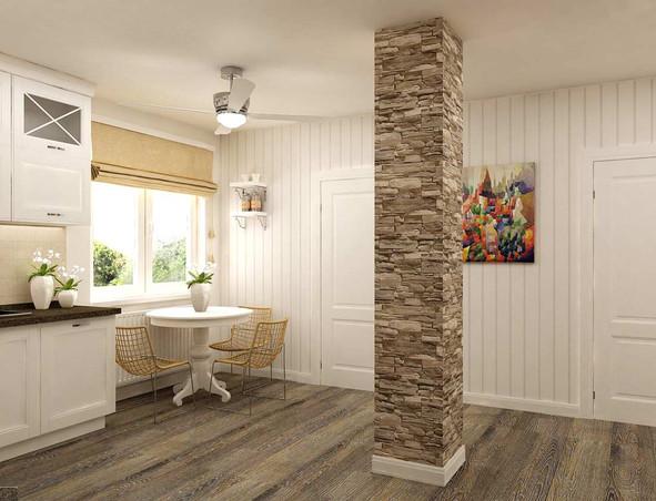 Стеновые белые панели в интерьере дома