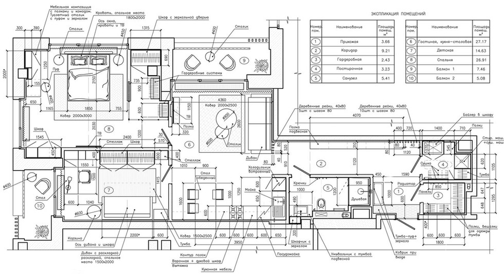 план квартиры в стиле лофт