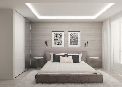 Деревянные панели в дизайне спальни