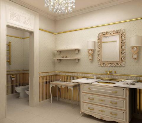 Дизайн санузла в классическом стиле