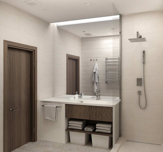 Модный интерьер ванной комнаты