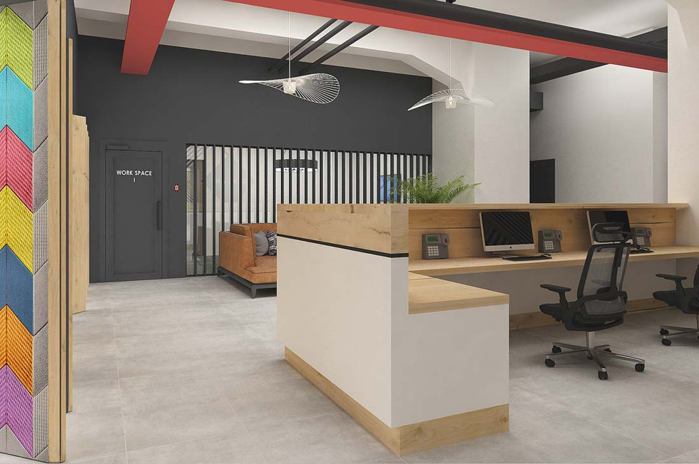 Рейки в дизайне офиса