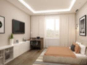 Дизайн спальни цвета беж