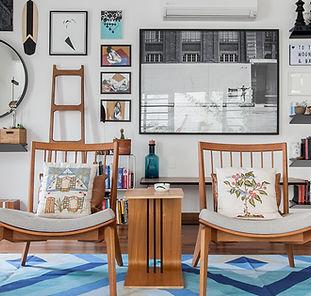 sala decoração parede quadros arquitetura interiores decoração