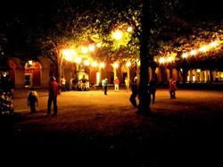 Midnight bocce in the Hofgarten