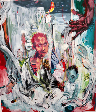 Epheas Maposa, 2020, Salty Covenant, oil on canvas, 129 x 110 cm