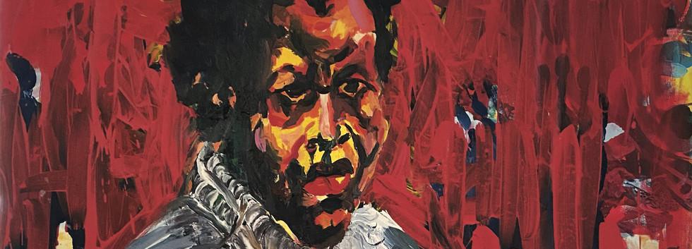 Epheas Maposa, 2020, Sans titre, huile sur toile, 84,5 x 74 cm