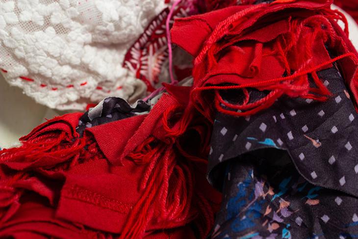 Georgina Maxim, Bag Factory residency, Johannesburg, 2020, textile, vue d'atelier