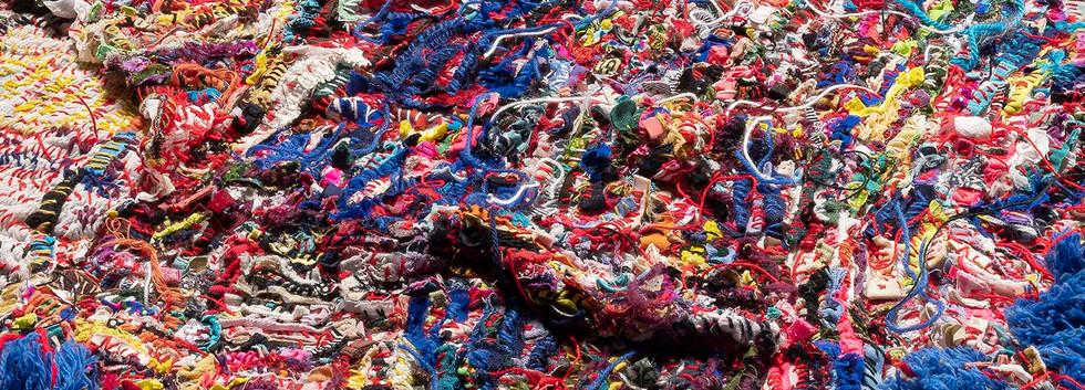 Georgina Maxim, 2019, Shabby Agnes, textile, technique mixte, diamètre 160 cm