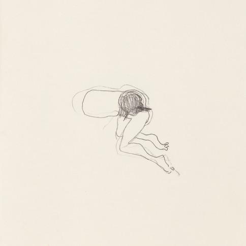 Misheck Masamvu, 2019, Sans titre, crayon et encre sur papier, monotype, 42 X 30 cm