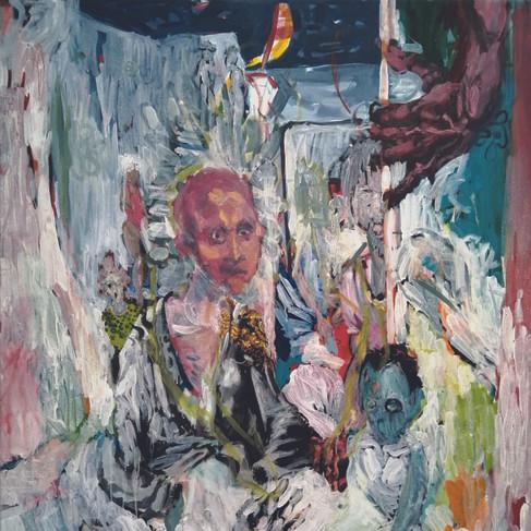 Epheas Maposa, 2020, Salty Covenant, huile sur toile, 129 x 110 cm