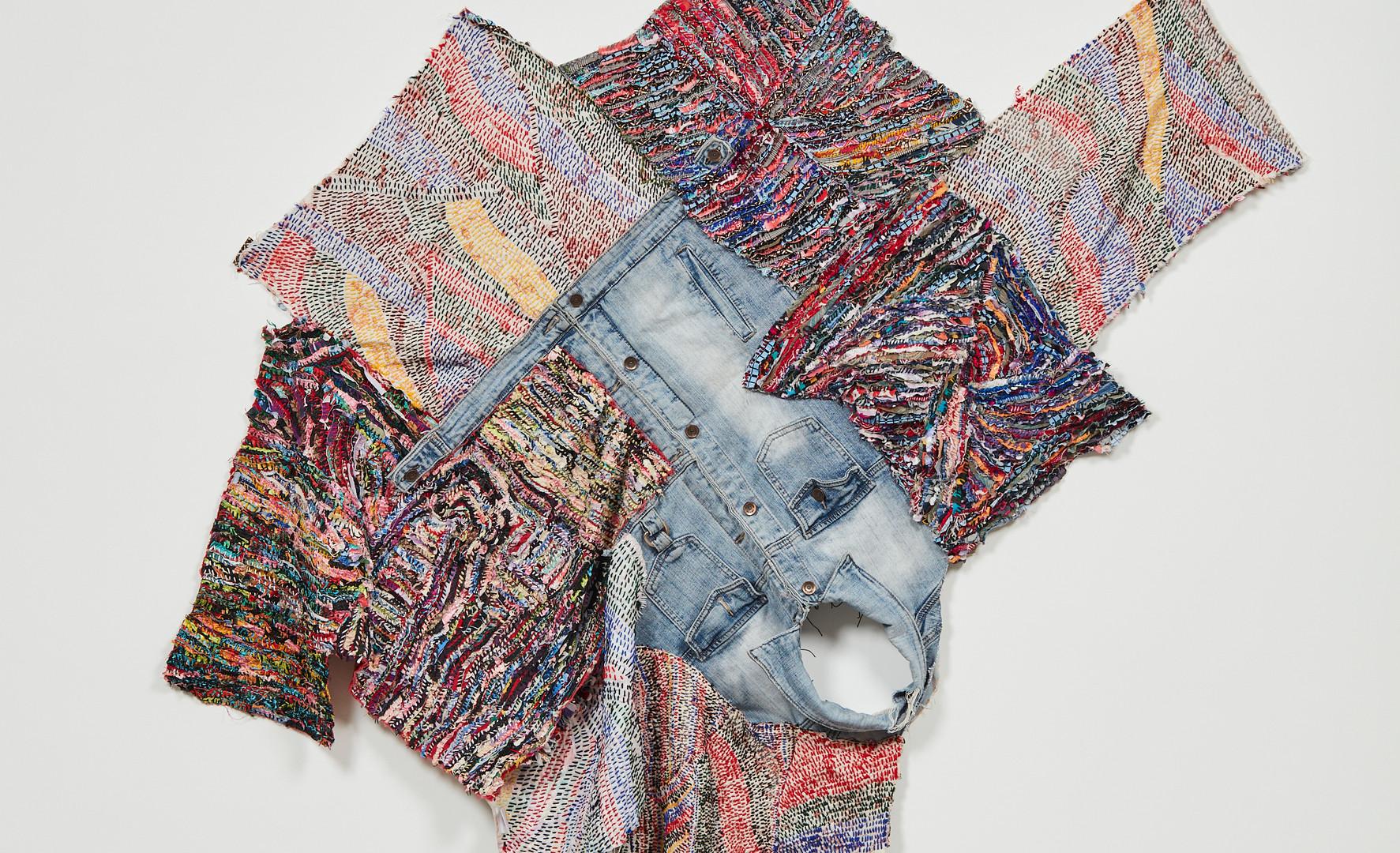 Georgina Maxim, 2020, Ma mère II, textile et technique mixte, 125 x 160 cm