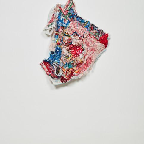 Georgina Maxim, 2020, Gumandafa (Never), textile et technique mixte, 90 x 60 cm