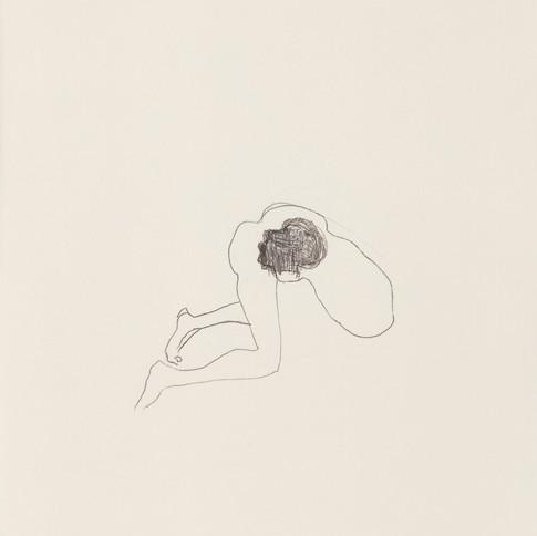 Misheck Masamvu, 2019, The find, crayon et encre sur papier, monotype, 42 X 30 cm