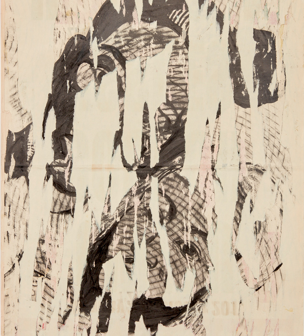 Evans T. Mutenga, 2019, Comrade, collage et technique mixte sur papier, 56 x 36 cm