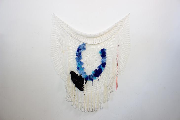 Georgina Maxim, 2020, no title, work in progress, textile, technique mixte