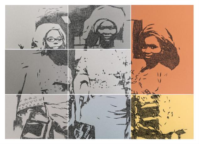 Kelani Abass, 2020, Stamping History (Iranti 3)