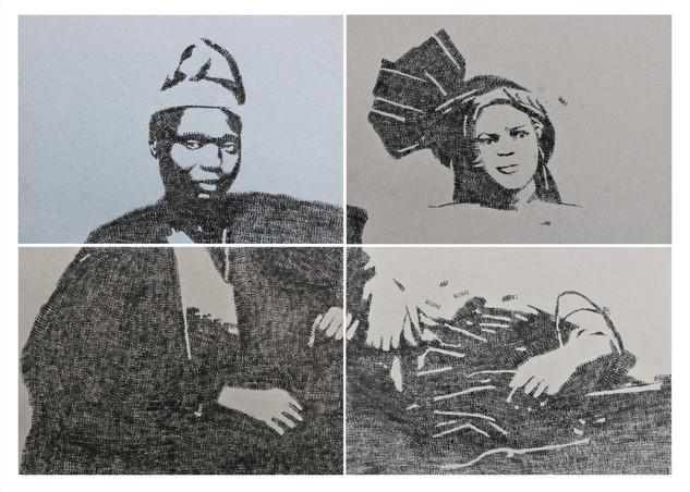 Kelani Abass, 2020, Stamping History (Ìrántí 2)