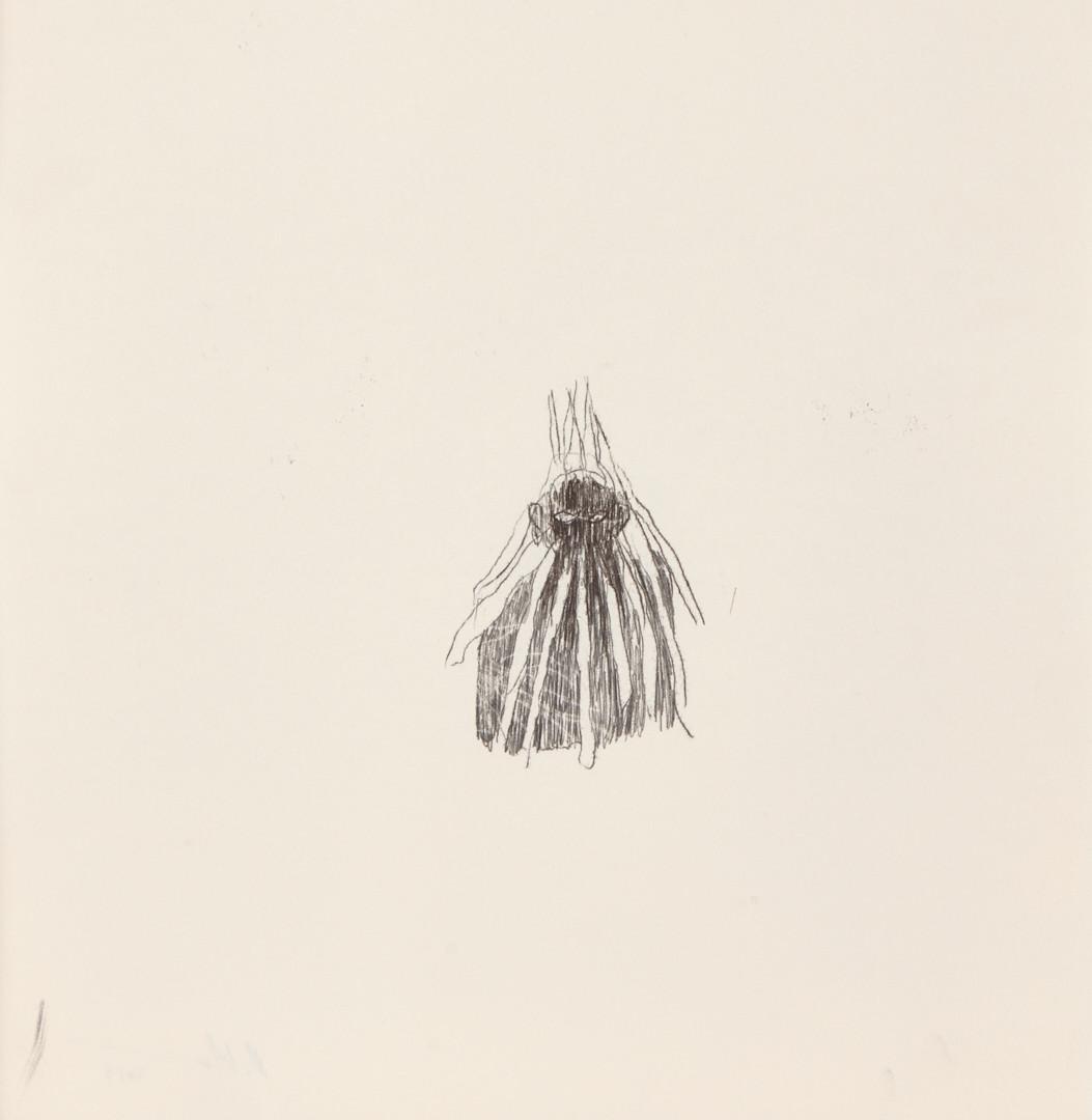 Misheck Masamvu, 2019, Fire pit, crayon et encre sur papier, monotype, 42 X 30 cm