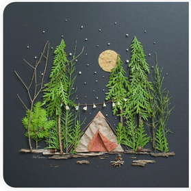 landscape with natural materials