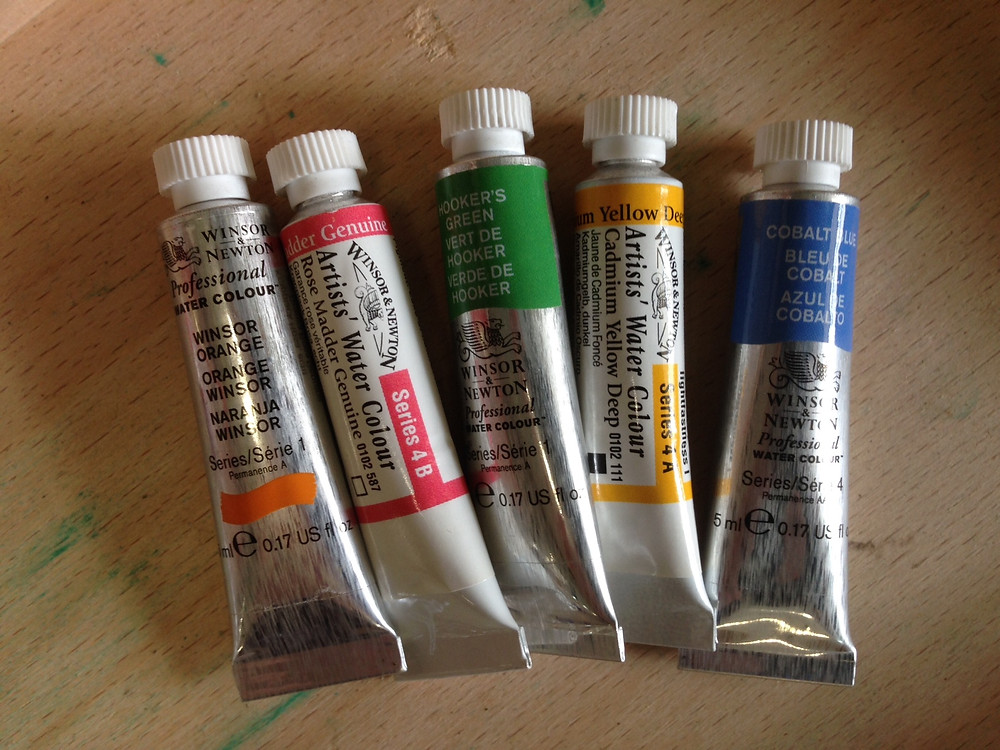 Winsor & Newton Artist series watercolours.