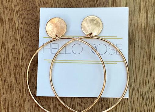 Gold Circle Hoops