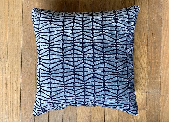 Art Deco Cut Velvet Pillow