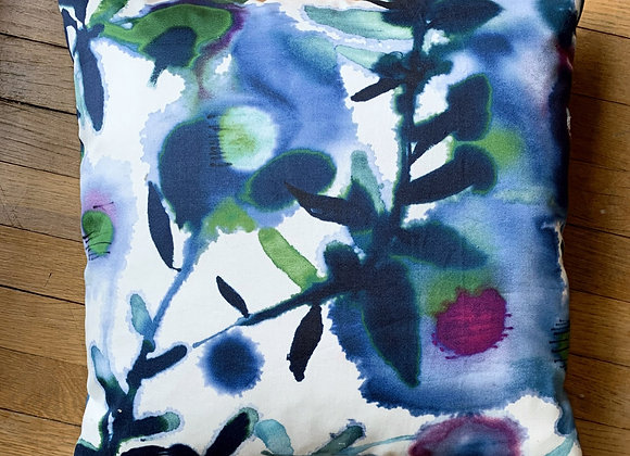 Water Color Floral Pillow