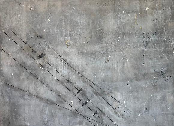 """Encaustic Art 24x30"""""""