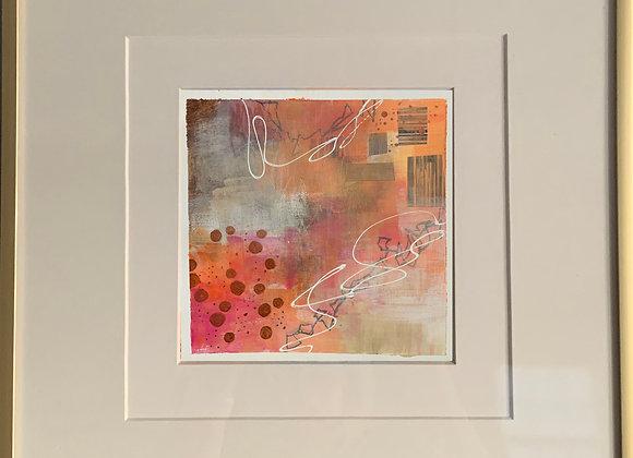 """""""Peach 3"""" Abstract Framed"""