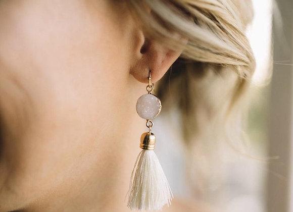 Ivory Tassel Earrings