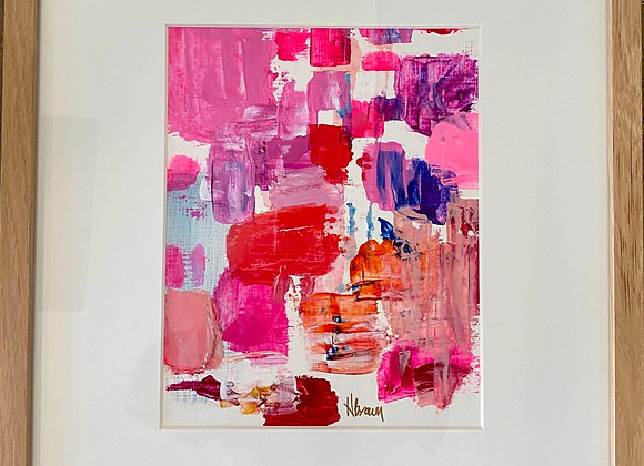 """Stay Sassy"" Pink Abstract Art"