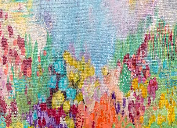 """""""Flower Power"""" Acrylic on Canvas"""