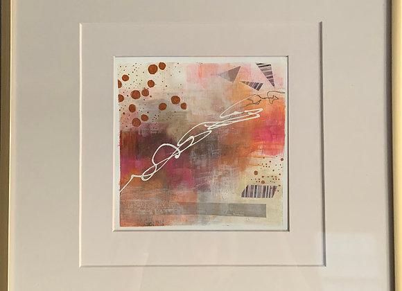 """""""Peach 1"""" Abstract Framed"""