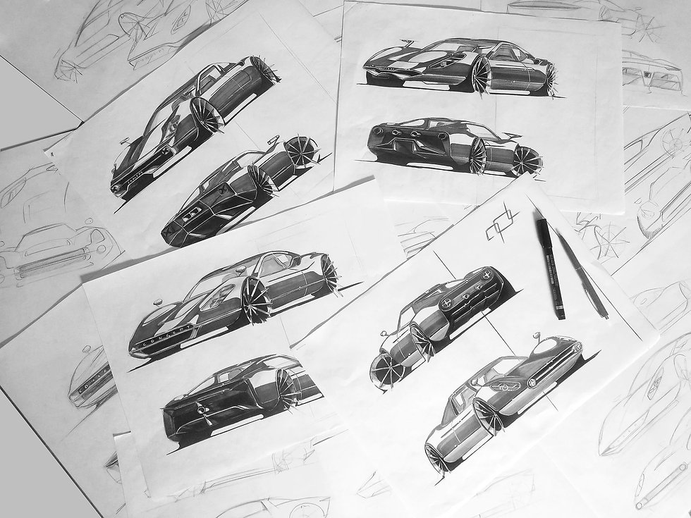 SKETCHES RENNER CAR PROTOTYPE