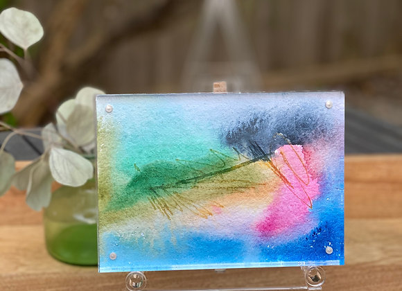 Abstract Art in Acrylic Frame