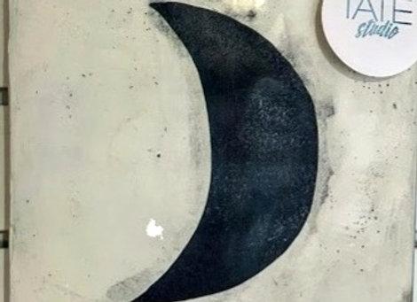 """Moon"" Encaustic Art"
