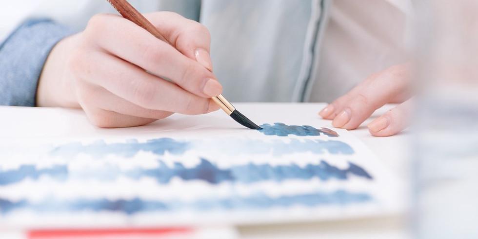 Hand lettering workshop for Chi Omega