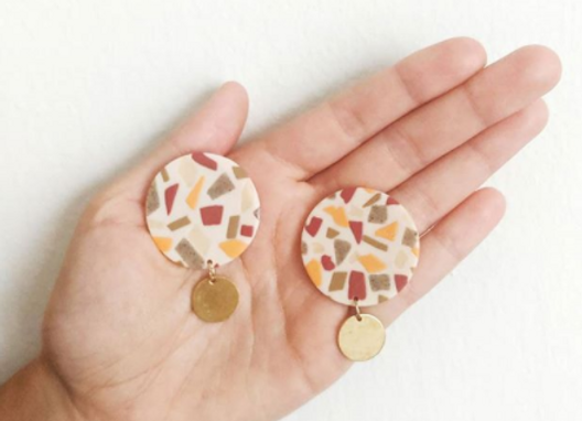 Terrazzo with Brass Coin