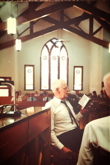Quay Smathers, Christian Harmony shaped-note singing, Old Folks Day, Morning Star United Methodist Church, Canton, NC