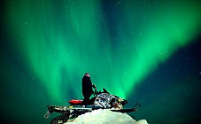 Northern Lights snowmobile