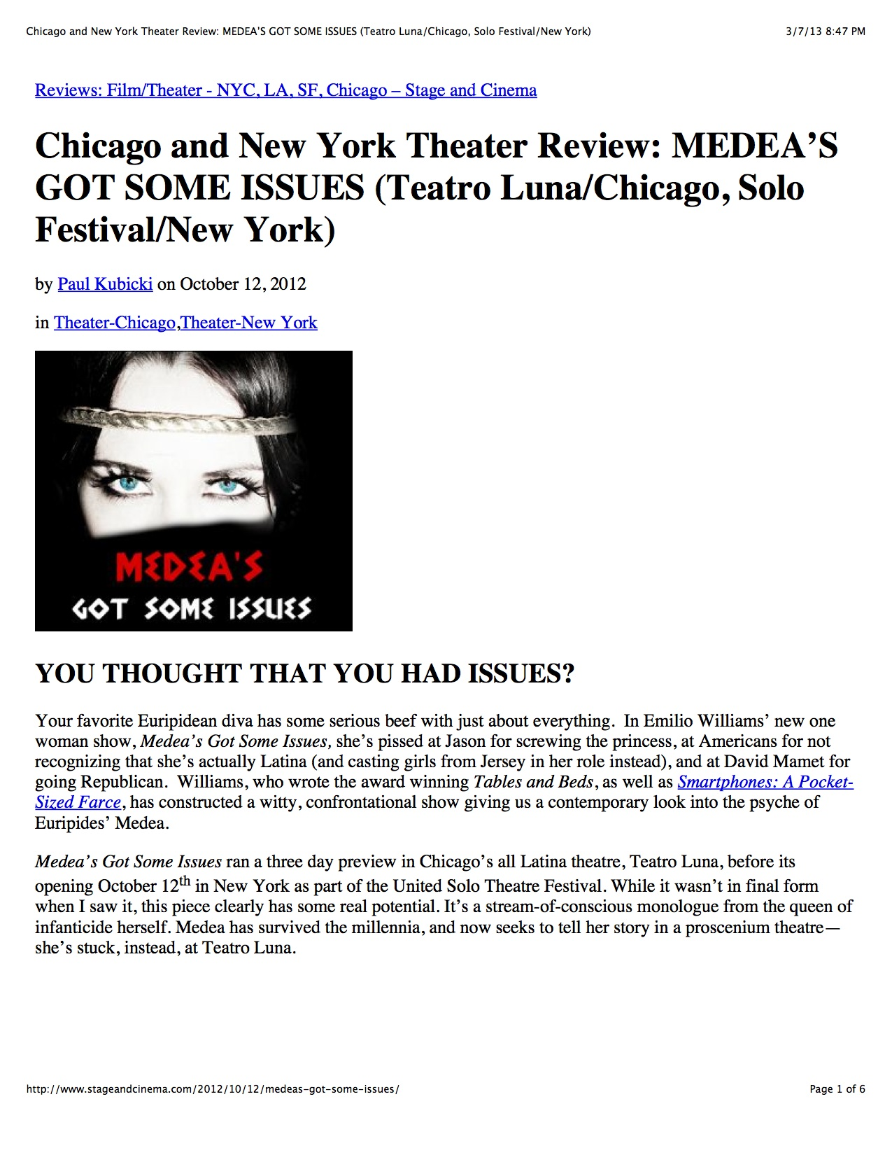 Chicago+and+New+York+Theater+Review:+MEDEA'S+GOT+SOME+ISSUES+(Teatro+Luna:Chicag