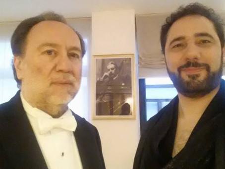 Il Maestro Chailly durante la Turandot alla Scala, Milano