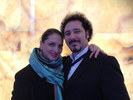 Con Norma Fantini dopo l'intervista