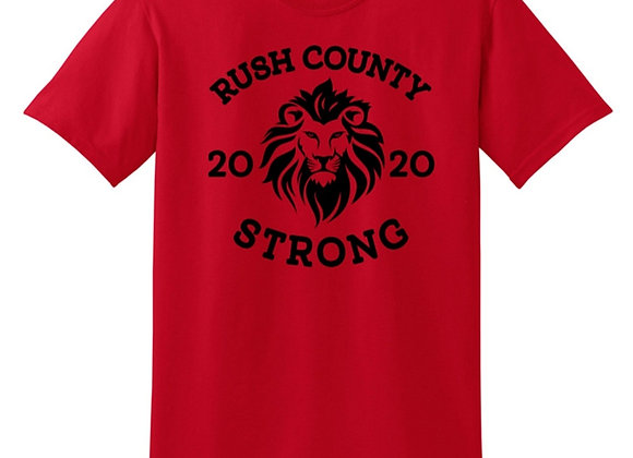 Rush County Lion Strong T-shirt - $5 Donated Back!